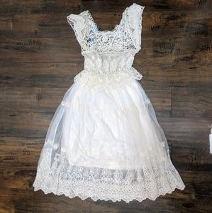 Beautiful embroidered lace dress